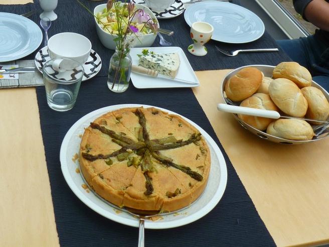 Groene aspergetaart