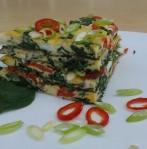 Gevulde omelet met groenten