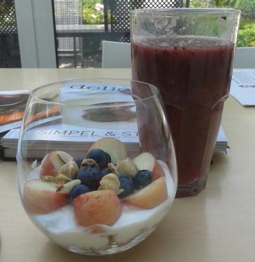 Cruesli, Griekse yoghurt en fruit