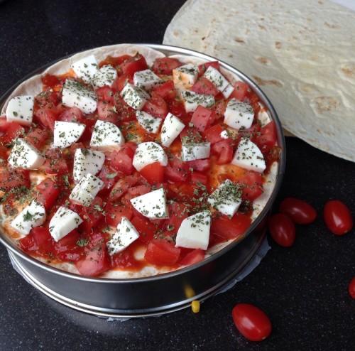 Vegetarische tortillataart