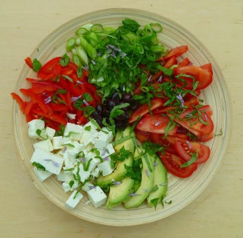 Vegetarische salade