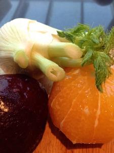 Bietensalade met venkel en sinaasappel