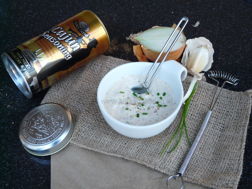Yoghurtdip met cajunkruiden
