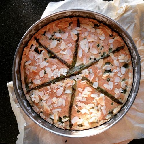 Groene Aspergetaart - Anja's Foodblog