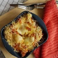 Bloemkool uit de oven met tomaten en kaas
