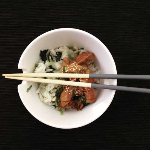 Gebakken.rijst.met pittig zoet varkensvlees (2)