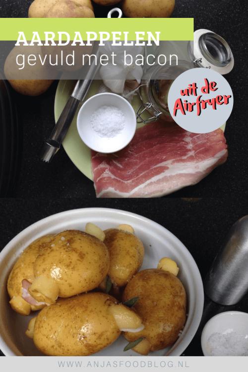 Gevulde aardappelen uit de airfryer