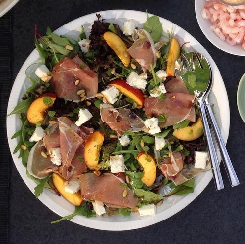Salade met nectarine en feta (1)