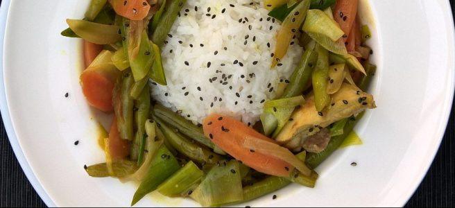 Thaise kip met groente