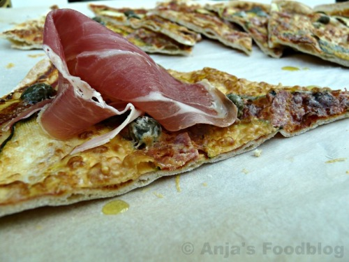 Pizza.groenten.serranoham