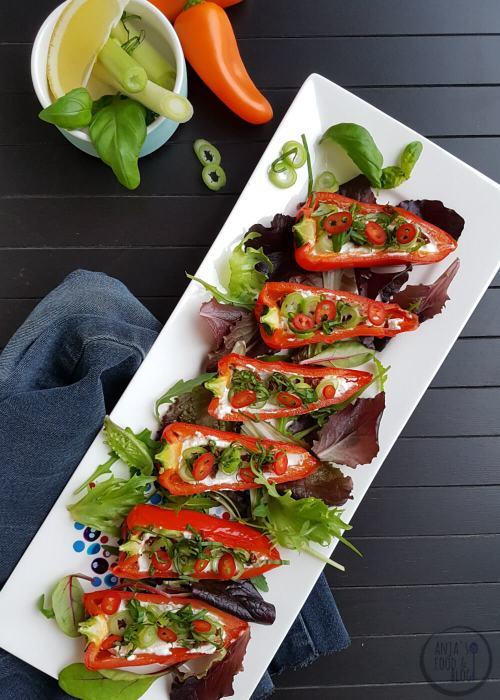 Gevulde snackpaprika (zonder vlees)