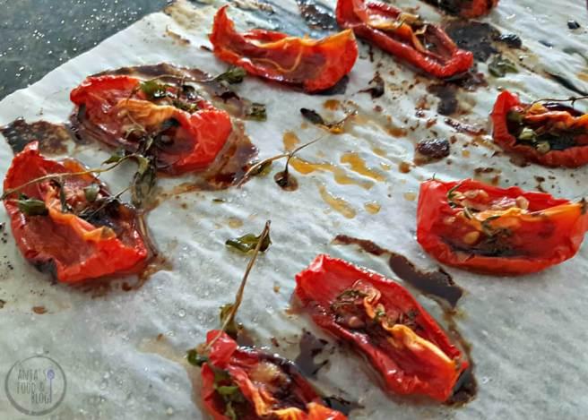 Gedroogde tomaten uit de oven