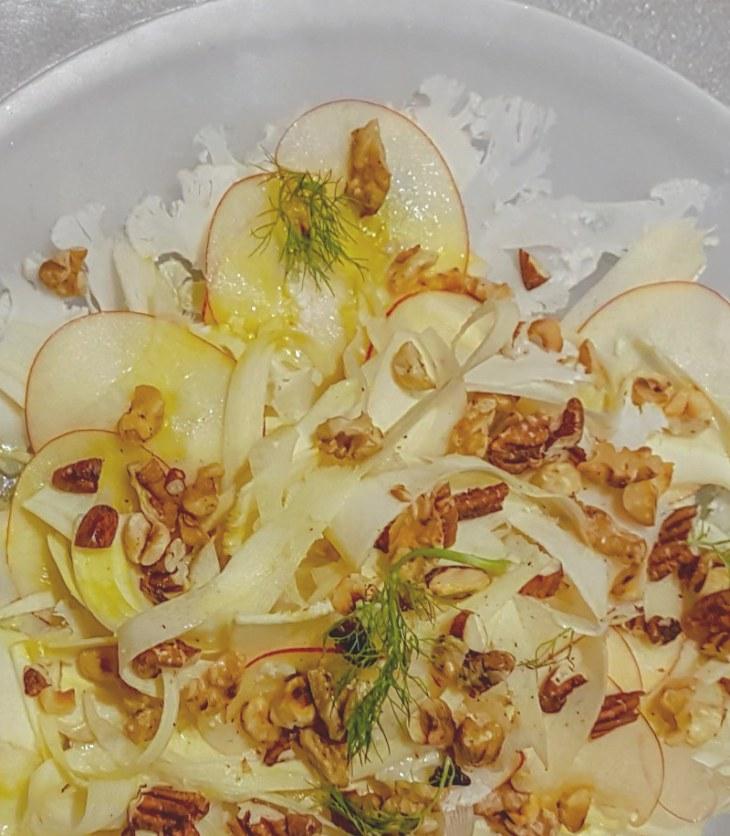 Salade van witte groenten