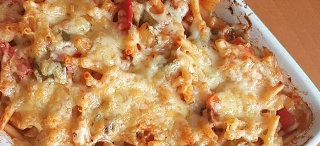 Pasta peperonata uit de oven