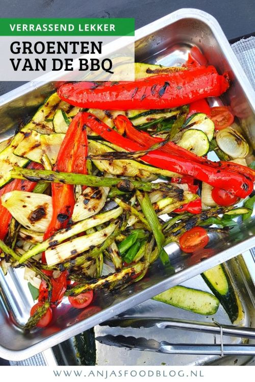 Kies voor veel groenten van de BBQ en je hebt een gezonde, maar vooral lekkere maaltijd. Lekker met couscous, limabonen en feta-kaas. #recept #BBQ #makkelijk #groenten
