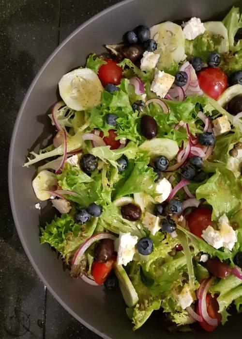 Salade feta bosbes