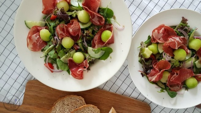 Salade Meloen Ham (titel)