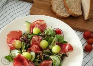 Salade Meloen Ham