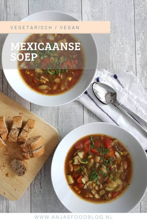 Dat is nog eens prettig! Koken voor 2 dagen: als eerste chili sin carne en voor de volgende dag een pittige Mexicaanse soep.  #recept #soep #vega