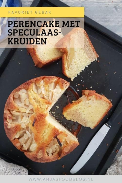 Deze perencake met speculaaskruiden wil je proberen! Een heerlijke combinatie van smaken.