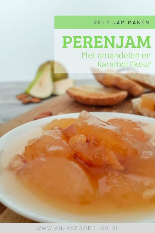 Peren, noten en karamel zijn heerlijk samen. En dat proef je ook terug in deze perenjam met amandelen en karamel likeur.