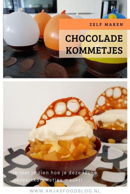 Serveer je dessert eens in deze chocolade dessertkommetjes. Het ziet er spectaculair uit, is heel gemakkelijk om te maken.