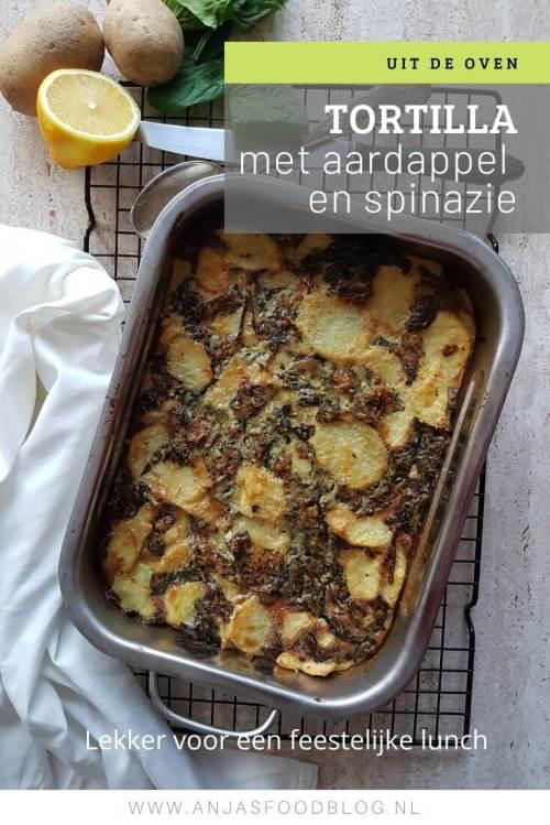 Een oventortilla met aardappel en spinazie is een heerlijk en vooral makkelijk gerecht. Ideaal voor een informeel etentje met familie of vrienden. Een frisse groene salade erbij en je bent klaar.  #recept #oventortilla #spinazie