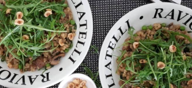 Risotto met champignons en porcini