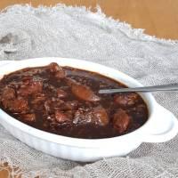 Oosters gerecht: zwarte kip