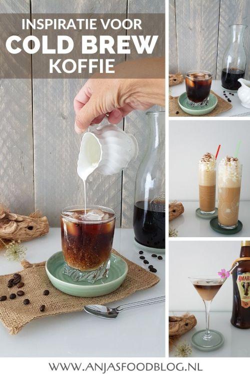 Koffie zetten met koud water? Dat kan! Maak deze cold brew koffie en mix de lekkerste koude drankjes met gemak.  #recept #coldbrew #koffie #ijskoffie