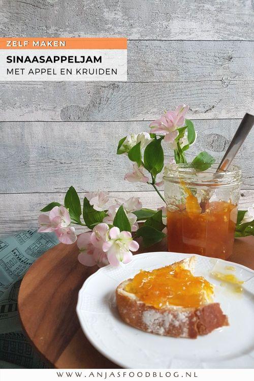 Zelf jam maken is helemaal niet moeilijk. Een van mijn favoriete smaken is sinaasappeljam en dan het liefst met specerijen of kruiden als extra. Aan deze jam voegde ik geraspte appel toe en dat maakt hem nog lekkerder.  #recept #sinaasappeljam #appel #specerijen #makkelijk #zelfmaken
