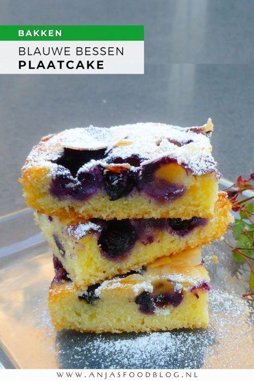 Deze bosbessencake of eigenlijk moet ik zeggen blauwe bessencake, maak ik wel vaker. Hij is erg lekker en je kunt hem makkelijk aanpassen als je wat meer nodig hebt. Nu heb ik hem gebakken in een lage bakvorm en is zo voldoende voor 6 grote of12 kleinere porties. Wil je meer bakken, verdubbel dan de ingrediënten en gebruik een bakplaat.